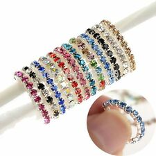 Wholesale Jewelry Multicolor 1row Crystal Rhinestone Elastic Ring Beach Women