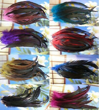New ! 40 Pcs BADGER SADDLE ROOSTER FEATHERS 24-28 cm / 9-11Inch