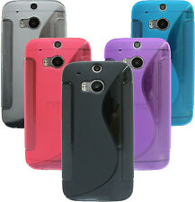 HTC ONE M8 Accessories Cover Case + Screen protector COLOUR & FOIL your choice