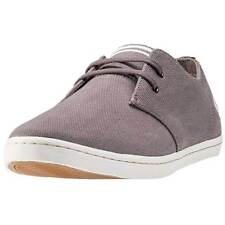 Fred Perry Byron Low Twill Mens Shoes Grey White New Shoes