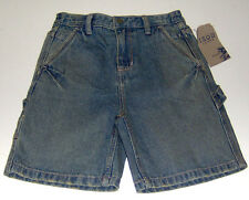 NWT Izod boys 100% cotton relaxed-fit blue denim jean shorts sz 4T/4 or 7