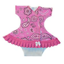 Baby Girls Groovy Pink Bandana Dress and Diaper Cover - 4 Preemie Newborn Sizes