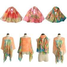 Fashion Lady Womens Wraps Shawl Stole Pashmina Scarves Long Silk Cape Scarf V8B6