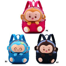 Baby's Cute 3D Monkey Little Backpack Plush Bag for Toddlers Kids