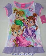 CHIPETTES Girls 2T 3T 4T Pjs Pajamas NIGHTGOWN Pjs Dress Alvin and the Chipmunks