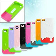 Snap On Melt Ice Cream Plastic Hard Case Cover Screen Protector For iPhone 4 4S