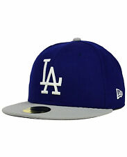 LOS ANGELES DODGERS MLB NEW ERA 59FIFTY COOPERSTOWN 2-TONE FITTED HAT/CAP NWT