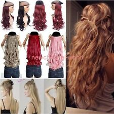 Women One Piece Full Head Clip in Hair Extensions Straight Curly Ombre Long remy