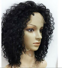 Women Remy Human Hair Silk 100% Baby Hair Curly Wigs Lace Front /Full Lace Wig