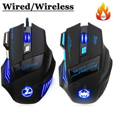 NEW VERSION 5500 DPI 7 BUTTONS USB LED OPTICAL WIRED GAMING GAME MOUSE MICE HOT
