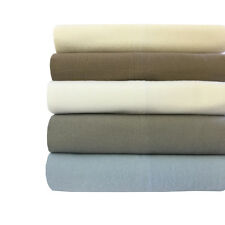 Queen Size Heavyweight 100% Cotton Flannel Sheet Sets 170 GSM for Ultra Comfort