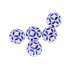 5pcs Silver Plated Cloisonne Accessories Spacers Beads DIY Jewelry Findings