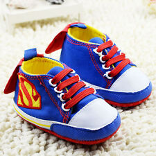 Blue Baby Boy ~ Superbaby ~ Superman ~ Blue Pre Walker Boots Shoes With Cape