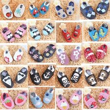 Leather Baby Infant Shoes New Toddler Unisex Soft Sole Shoes Fit 0-24 Months CA