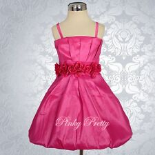 Stretchable Bubble Dress Wedding Flower Girl Party Birthday Size 3mon-5y FG135