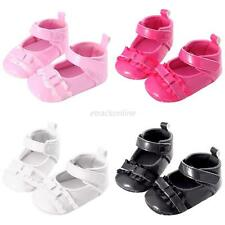 0-18M Toddler Infant Baby Girls Soft Sole Crib Shoes Casual PU Leather Prewalker