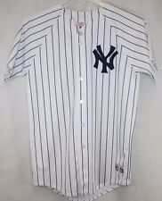 NEW Boys Kids Youth MAJESTIC New York NY YANKEES Pinstripe Stitched MLB Jersey