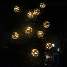 New Warm White Solar 10 LED Moroccan Lantern Lights For Party Outdoor