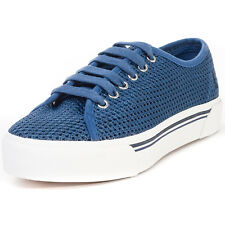 Fred Perry Phoenix Flatform Womens Trainers Navy White New Shoes