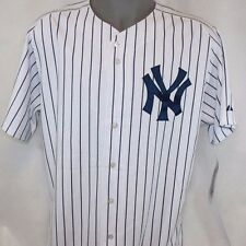 NEW Mens MAJESTIC Blank Back New York YANKEES MLB Stitched Home Baseball Jersey