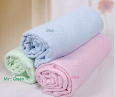 New 1pcs 100% Pure Bamboo Fibre Soft Summer Baby Blanket 100*150cm Pink/Blue