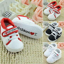 Kids Printed Shoes Baby Infant Boy Girl Sole Trainers Sneaker 0-18 Months