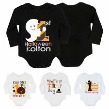 Haloween Baby Infant Newborn Long Sleeve Costume Romper Playsuit Bodysuit Jumper