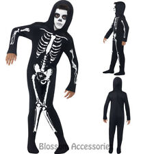 CK877 Skeleton Halloween Onesie Child Boys Girls Jumpsuit Skull Costume Outfit