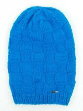 O'Neill Knitted cap Long Beanie Winter hat Square blau Knitted pattern