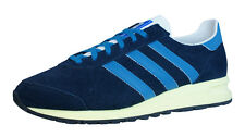 adidas Originals Marathon 85 Mens Suede Trainers / Shoes - Blue - G96856