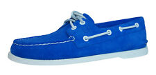 Sperry Top Sider A/O 2 Eye Suede Mens Boat / Deck Shoes - Blue - STS10612