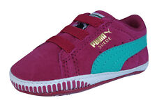 Puma Suede Crib Infant / Baby Girls First Walker Trainers / Shoes - Cerise