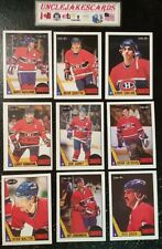 1987-88 OPC MONTREAL CANADIENS Select from LIST NHL HOCKEY CARDS O-PEE-CHEE