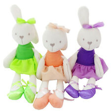 Soft Lovely 35cm Baby Toy Pink Bunny Mobile Soothe Doll Stuffed Rabbit Toys