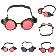 Antique Victorian Steampunk Cyber Goggles Glasses Welding Cosplay Gothic Goggles