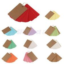 50 Kraft Paper Blank Memo Pads Portable Notepads Word Cards Kids School Supply