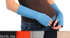 Fingerless Acrylic Sweater Knit Gloves/Arm Warmers OS 7 Colors