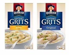 Quaker Instant Grits Original and Butter Hot Cereal 2 Boxes - 24 Packets