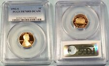 1992-S PCGS PR70RD DCAM PROOF LINCOLN CENT DEEP CAMEO 1c PR 70