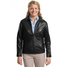 Port Authority Womens Lambskin Park Avenue Leather Jacket Size XS or 4XL  L785