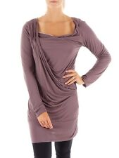 Khujo Long sleeve Longsleeve Shirt Shirt dress Balloon dress Alia purple Knot