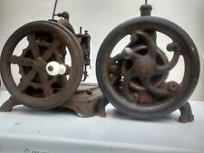 TWO vintage table top hand cranked Sewing Machines