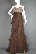 NWT $935 Badgley Mischka SILK pageant prom formal evening dress gown 6