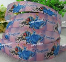 """10 YARDS 1"""" colorful Cartoon Printed Grosgrain Ribbon Hair Clips Bow Crafts W"""