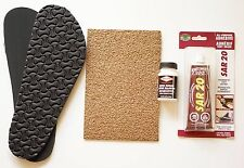 BIRKENSTOCK Repair Replacement Re-sole Kit for Sandals Shoes & Cork Sheet Glue