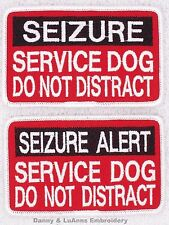 SEIZURE SERVICE DOG DO NOT DISTRACT ALERT PATCH 2.5X4 Danny & LuAnns Embroidery