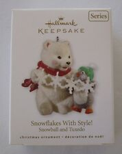 Hallmark 2010 Snowball Tuxedo #10 Series Snowflakes Style Christmas Ornament