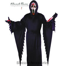 CL45 Mens Bleeding Ghost Face Halloween Scream Scary Fancy Costume Robe + Mask