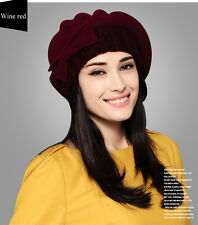 Fashion Women Ladies Winter Wool Beret Beanie Cap Wool Patry Dress Hat
