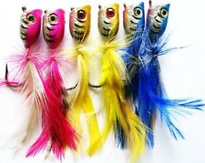 6 New Generation Quality Surf Poppers medium sized fishing lure !!!